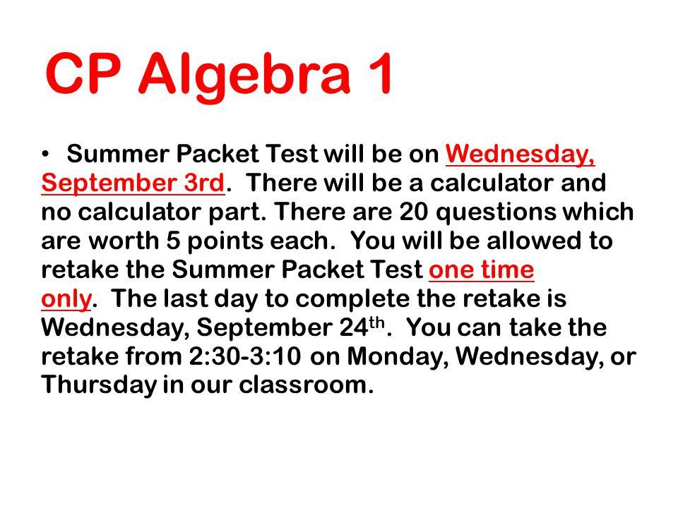 Mrs  Attard Advanced CP Algebra 1 - ppt video online download