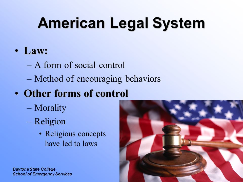 Introduction To Law Evolution Of Laws Daytona State College Ppt - American legal forms