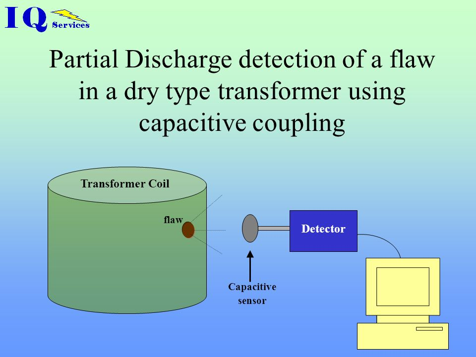 Partial Discharge detection of a flaw in a dry type transformer using capacitive coupling