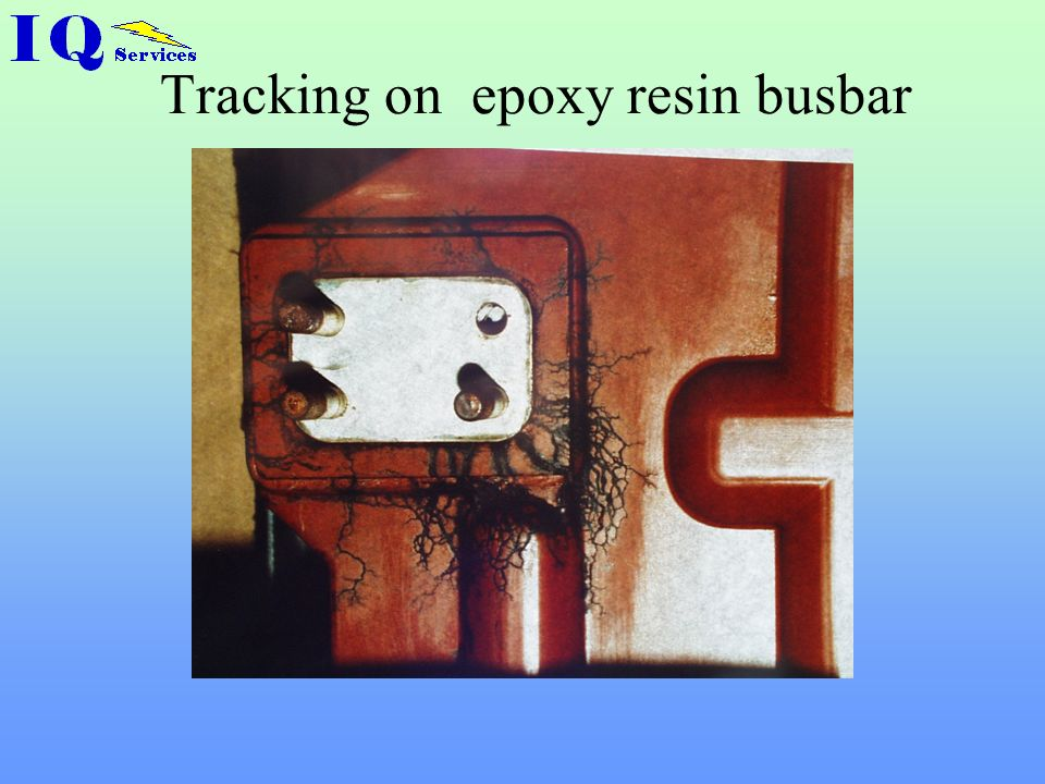 Tracking on epoxy resin busbar