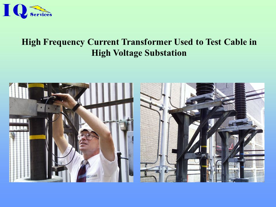 High Frequency Current Transformer Used to Test Cable in High Voltage Substation