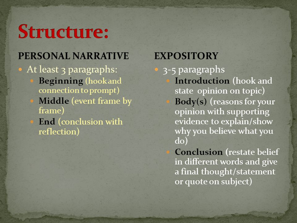 Expository Writing Vs Personal Narrative Writing Ppt Download