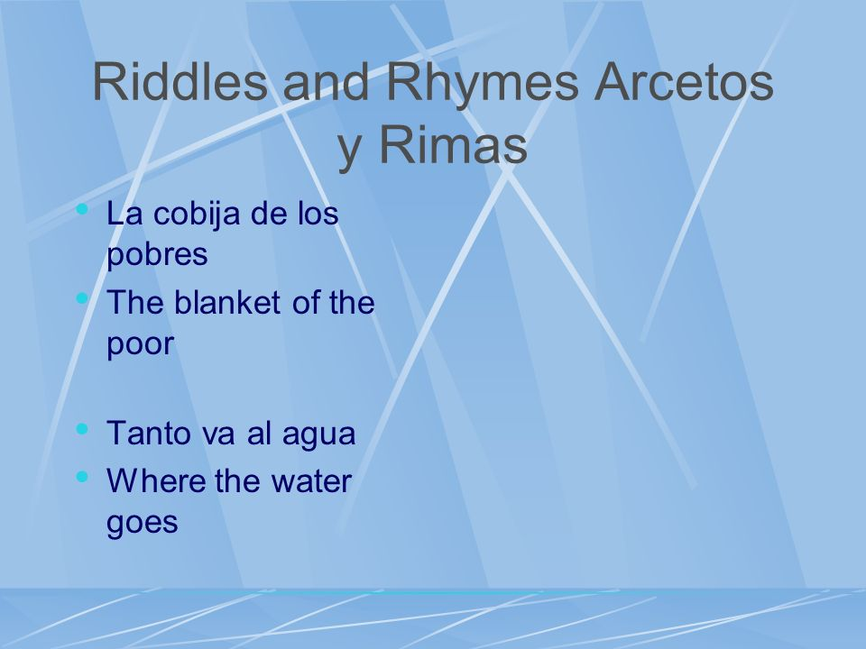 Riddles and Rhymes Arcetos y Rimas