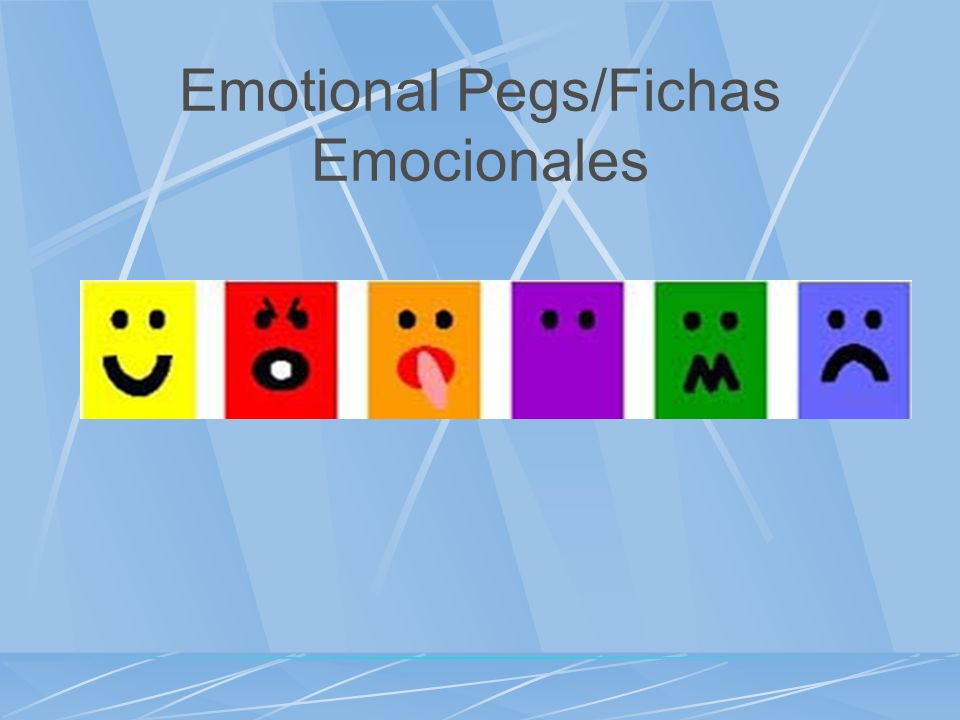 Emotional Pegs/Fichas Emocionales