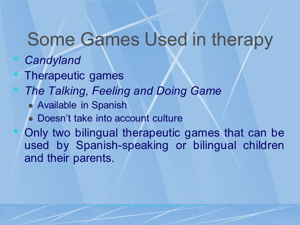 Some Games Used in therapy