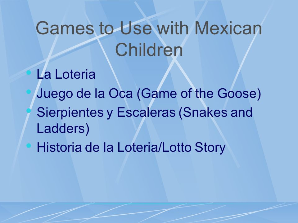 Games to Use with Mexican Children