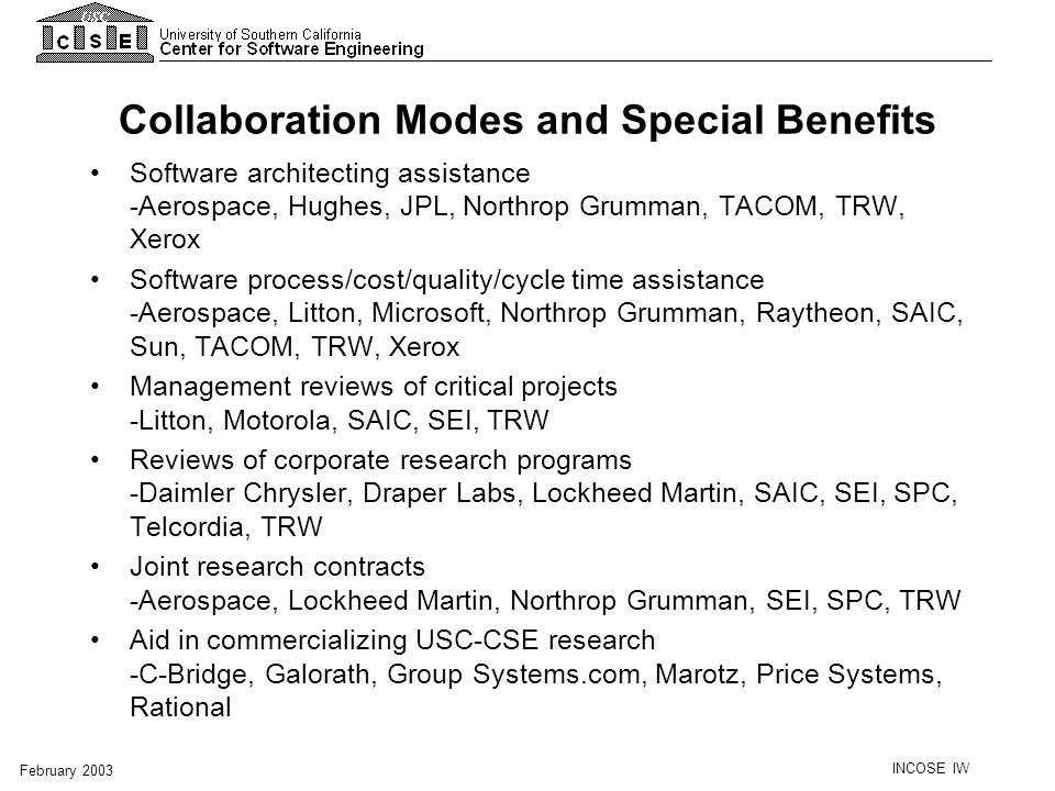 Collaboration Modes and Special Benefits