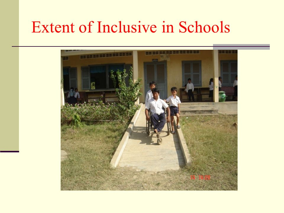 Extent of Inclusive in Schools