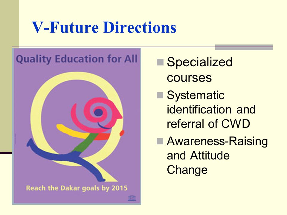 V-Future Directions Specialized courses