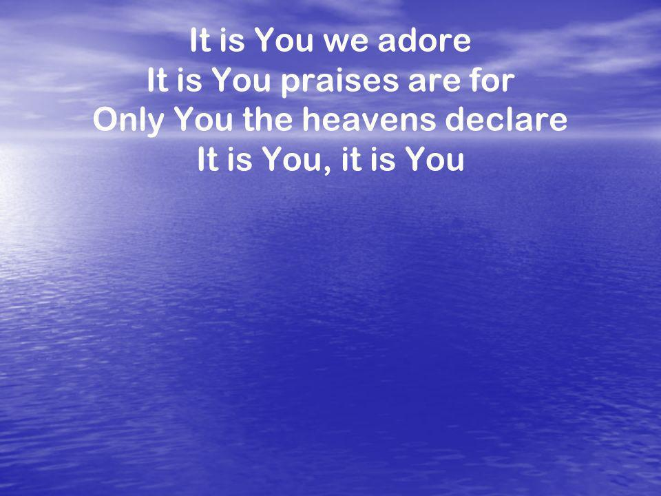 It is You praises are for Only You the heavens declare