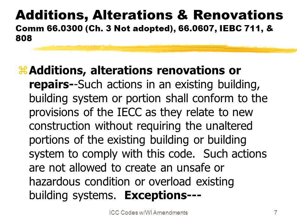 ICC Codes w/WI Amendments - ppt download