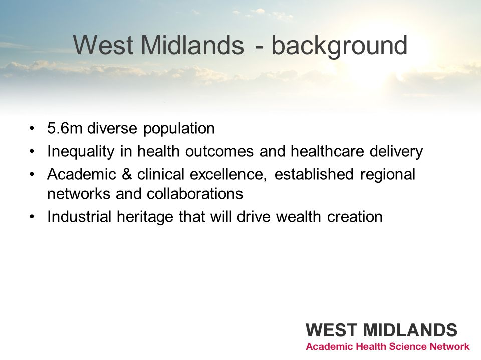 West Midlands - background