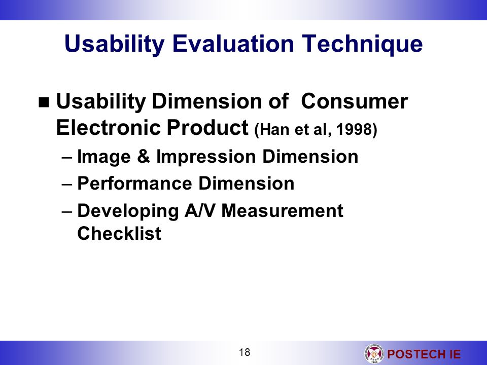 Usability Evaluation Technique