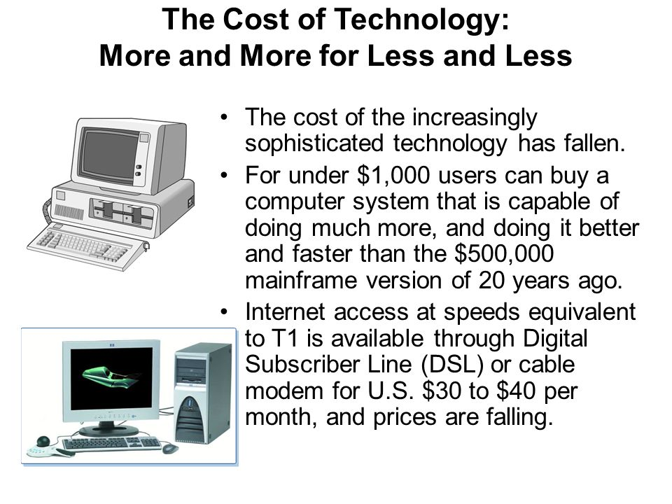 The Cost of Technology: More and More for Less and Less