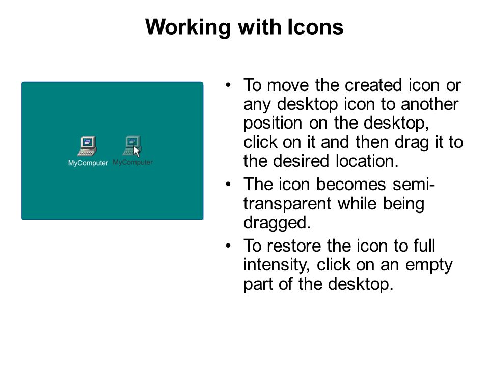 Working with Icons