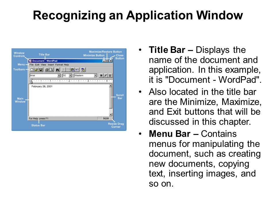 Recognizing an Application Window
