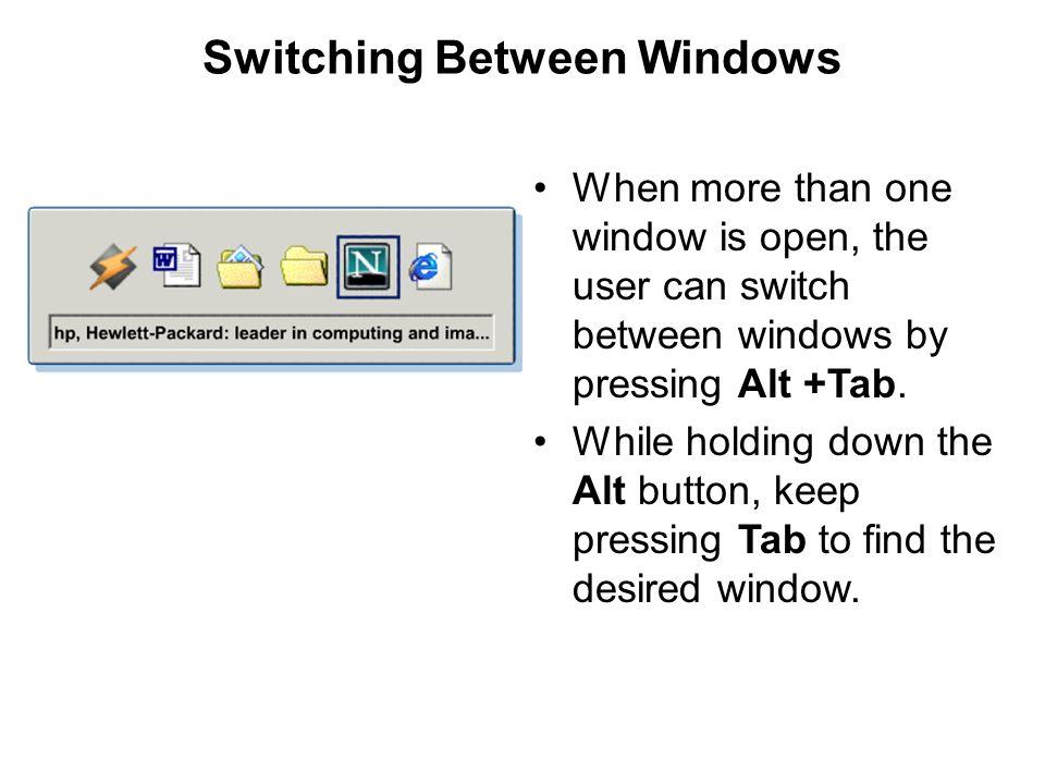 Switching Between Windows