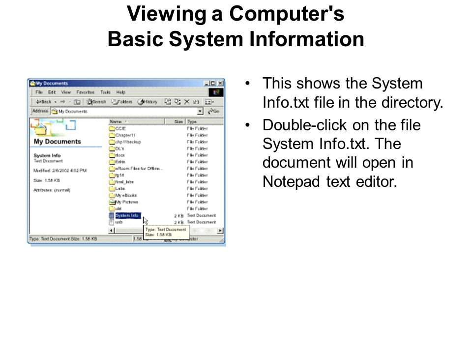 Viewing a Computer s Basic System Information