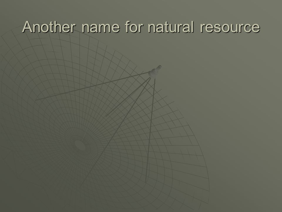 Another name for natural resource