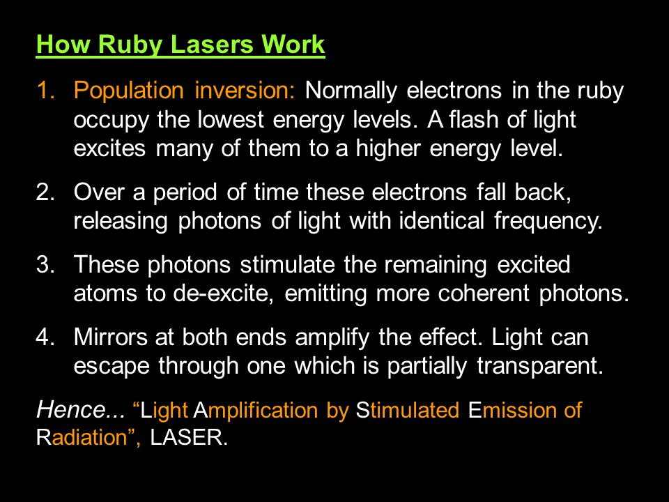 How Ruby Lasers Work