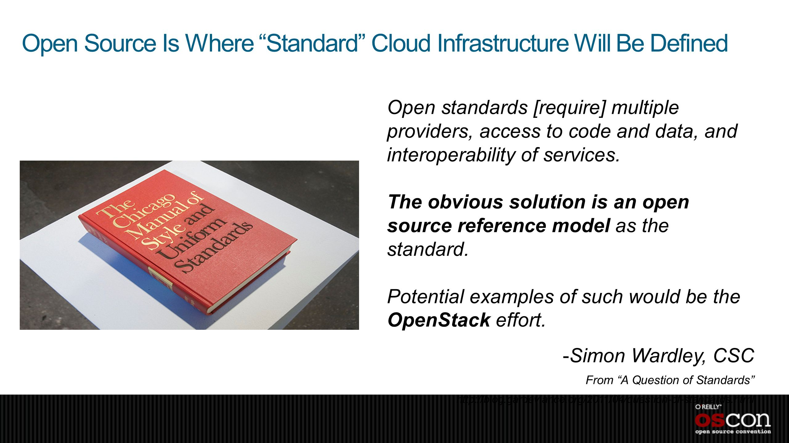 Open Source Is Where Standard Cloud Infrastructure Will Be Defined