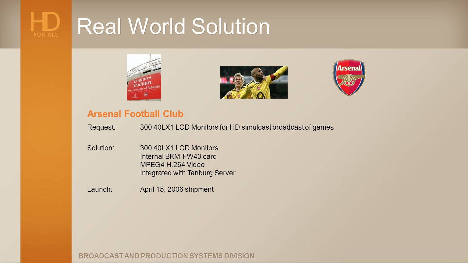 Real World Solution Arsenal Football Club