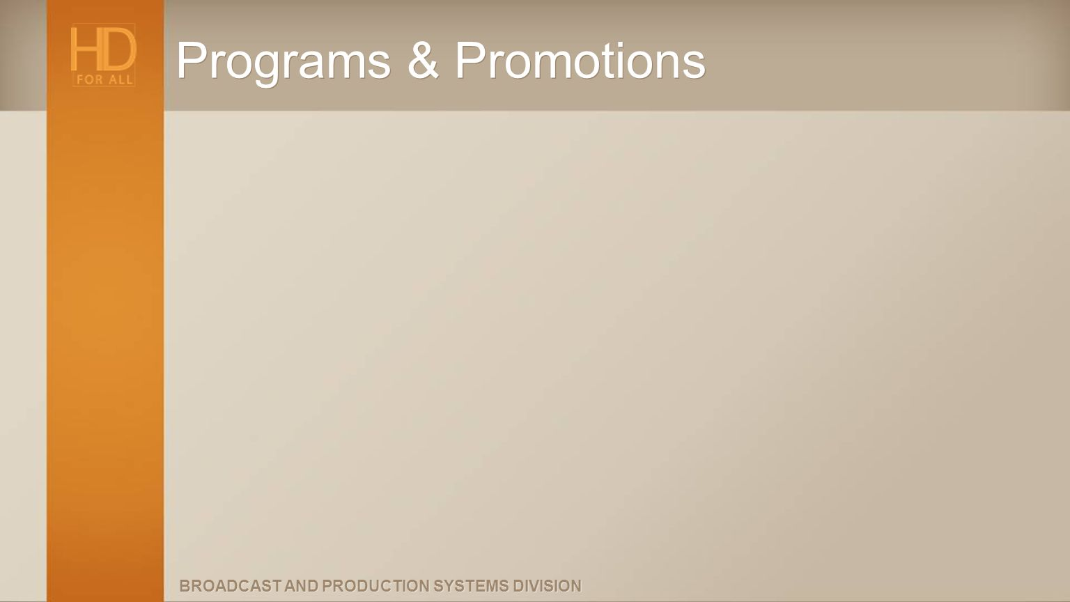 Programs & Promotions