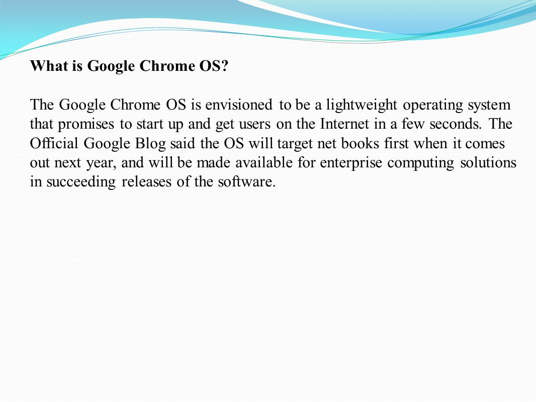 "Google Chrome OS ""Official"" binary from Google Supported by"