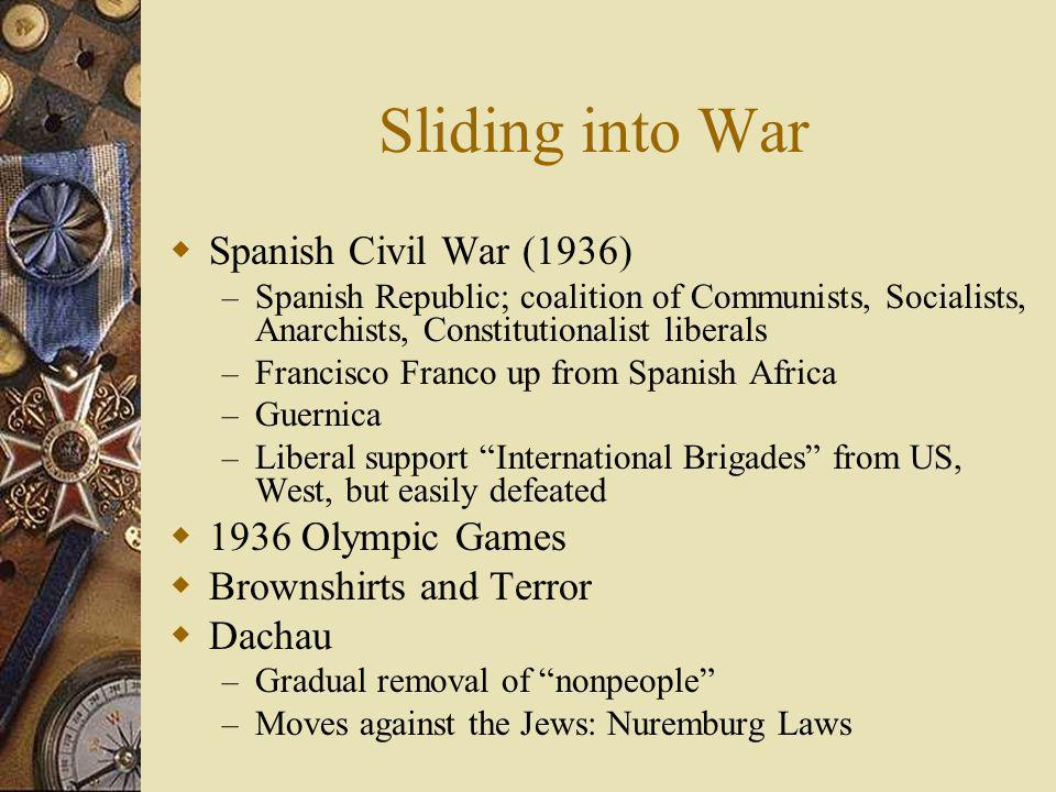 Sliding into War Spanish Civil War (1936) 1936 Olympic Games