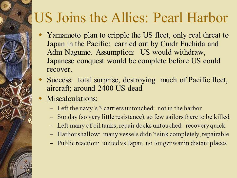 US Joins the Allies: Pearl Harbor