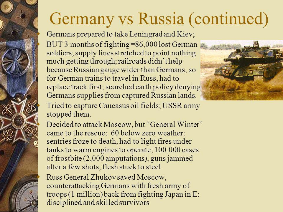 Germany vs Russia (continued)