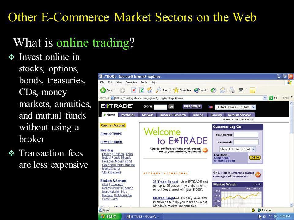 Other E-Commerce Market Sectors on the Web