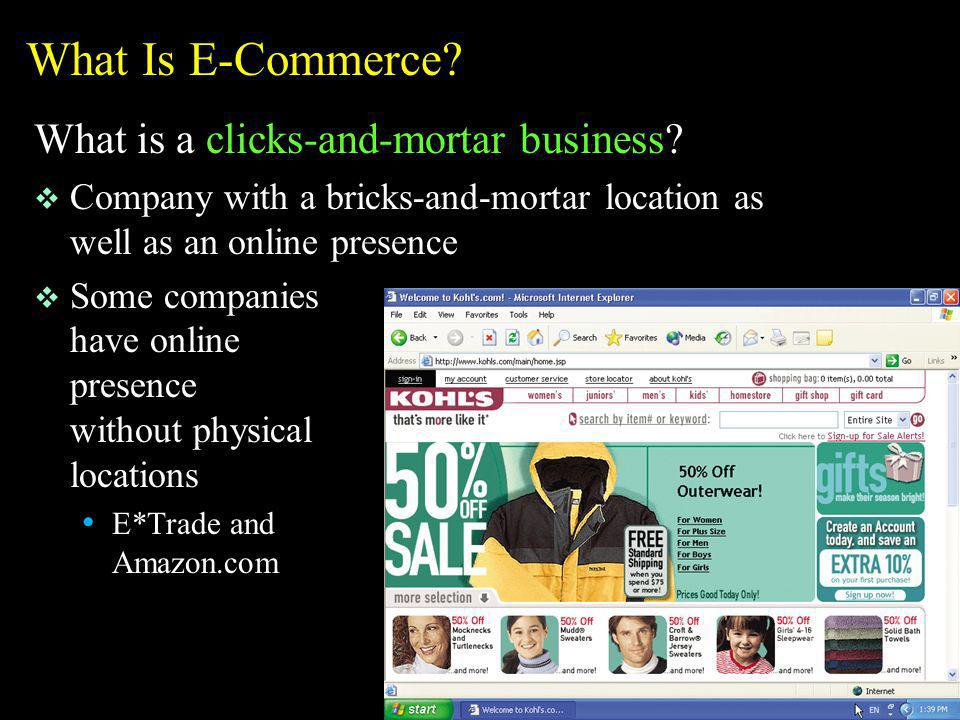 What Is E-Commerce What is a clicks-and-mortar business