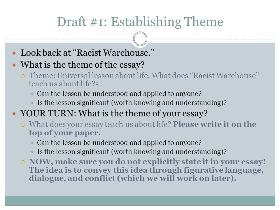 Personal Narrative Draft #1Writing Workshop - ppt video online download