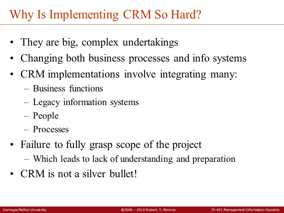 Why Is Implementing CRM So Hard