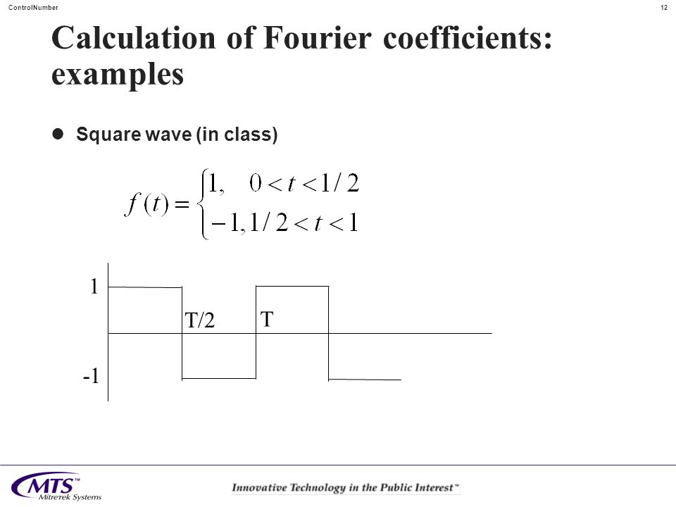Calculation of Fourier coefficients: examples