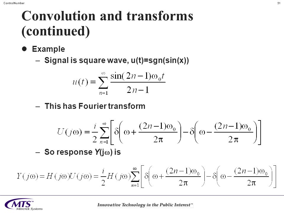 Convolution and transforms (continued)