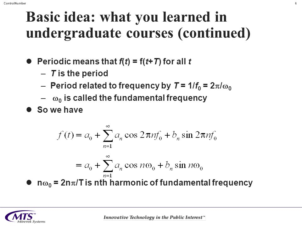 Basic idea: what you learned in undergraduate courses (continued)