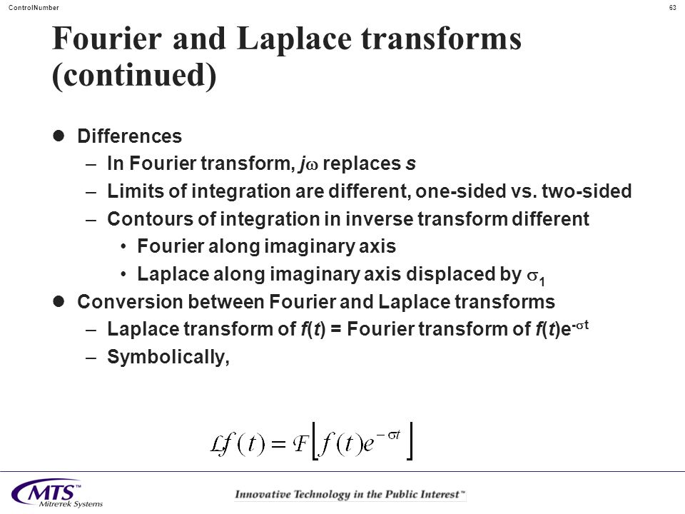 Fourier and Laplace transforms (continued)