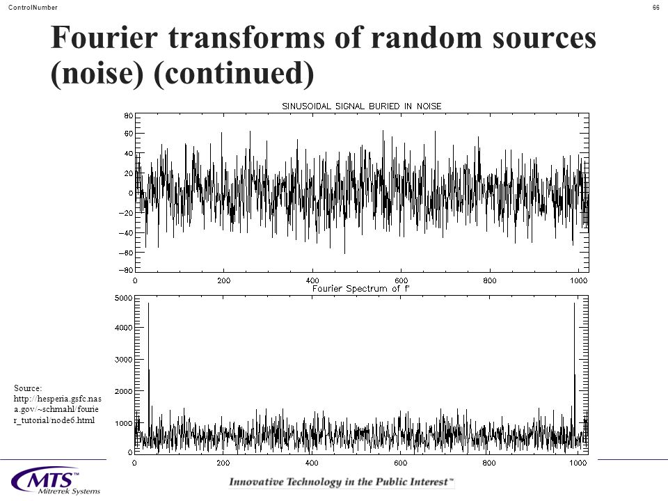 Fourier transforms of random sources (noise) (continued)