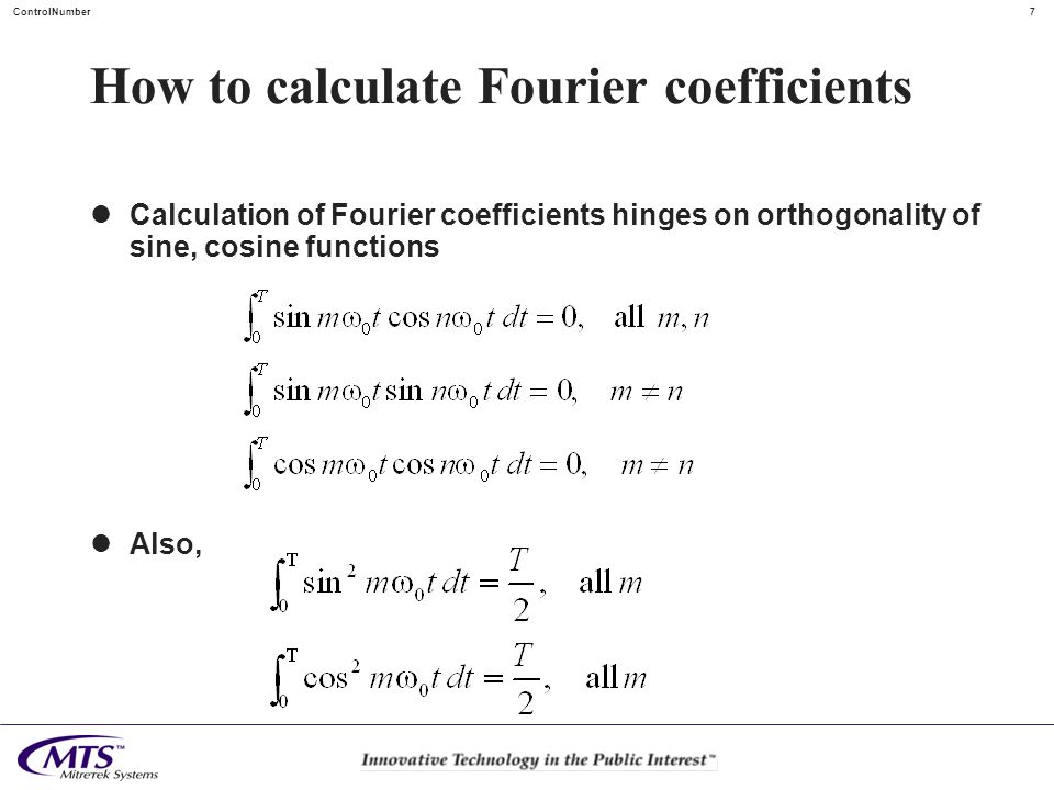 How to calculate Fourier coefficients