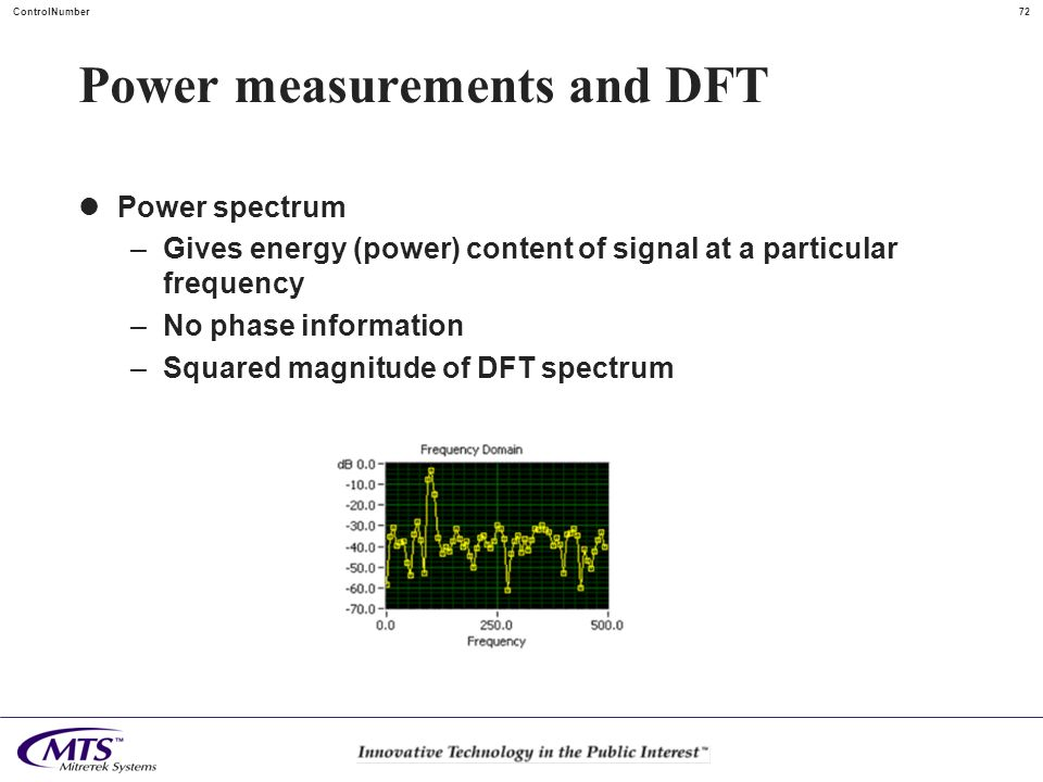 Power measurements and DFT