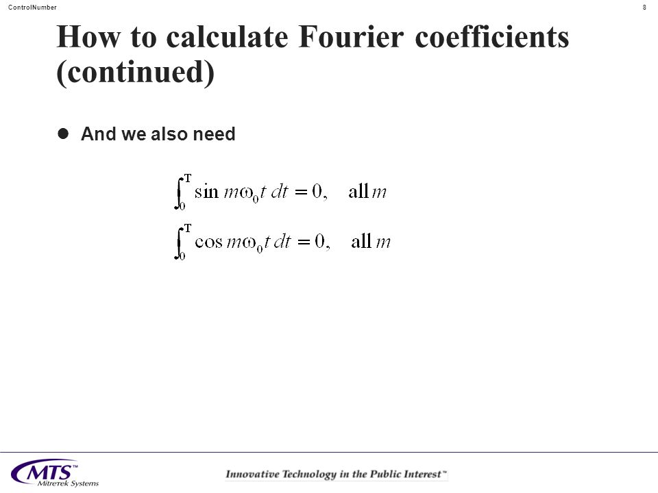 How to calculate Fourier coefficients (continued)