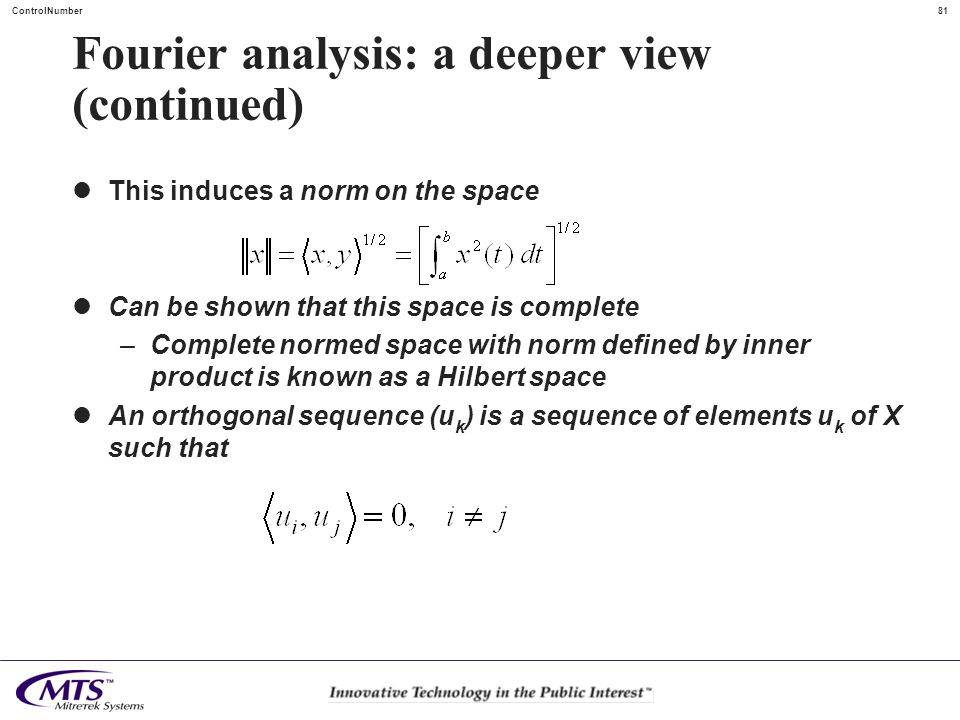 Fourier analysis: a deeper view (continued)