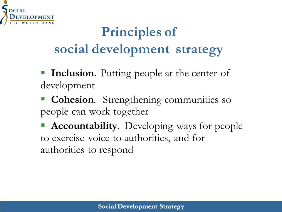 Principles of social development strategy