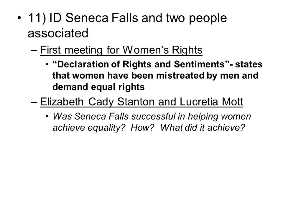 11) ID Seneca Falls and two people associated