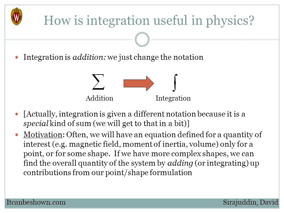 How is integration useful in physics