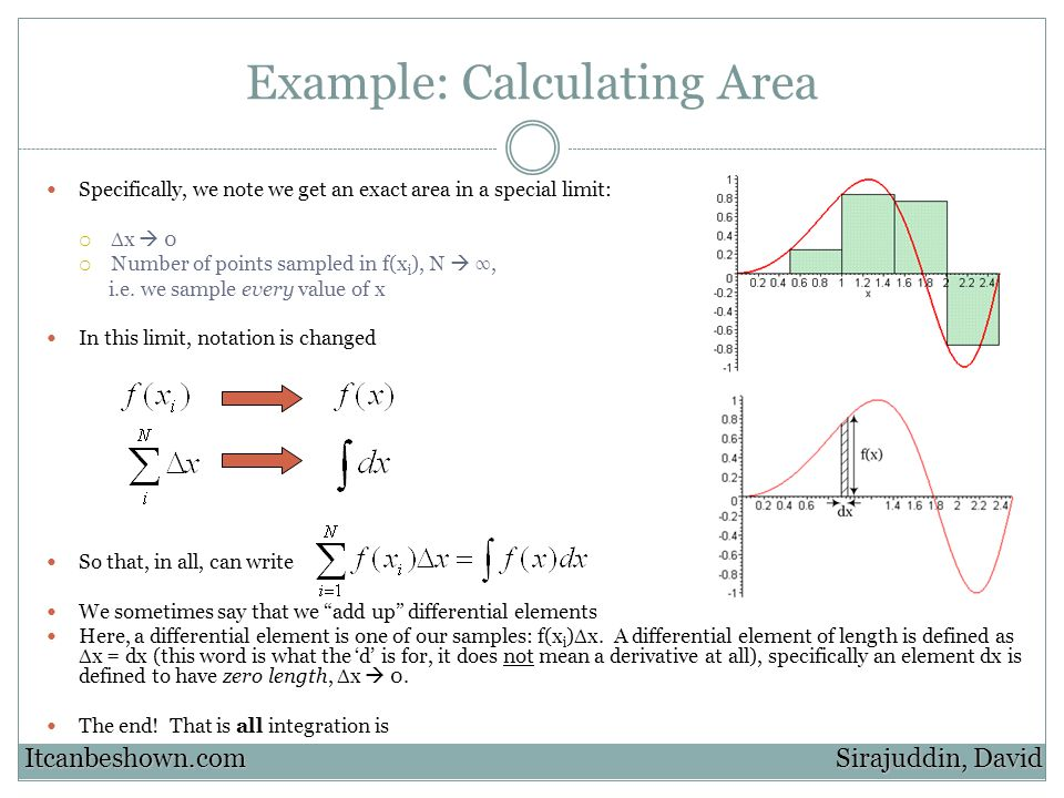 Example: Calculating Area