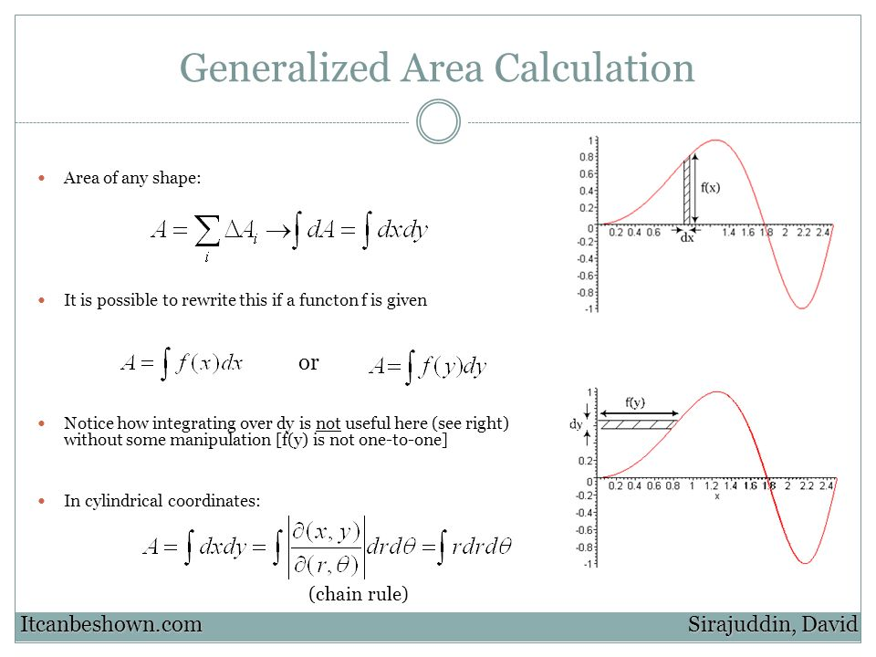 Generalized Area Calculation