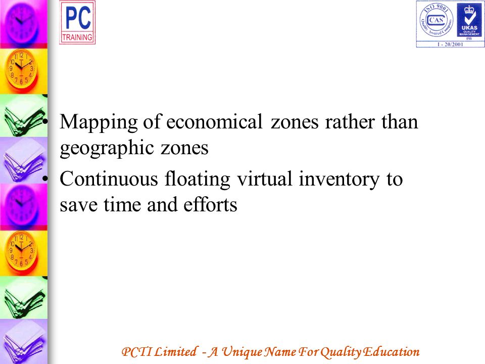 Mapping of economical zones rather than geographic zones